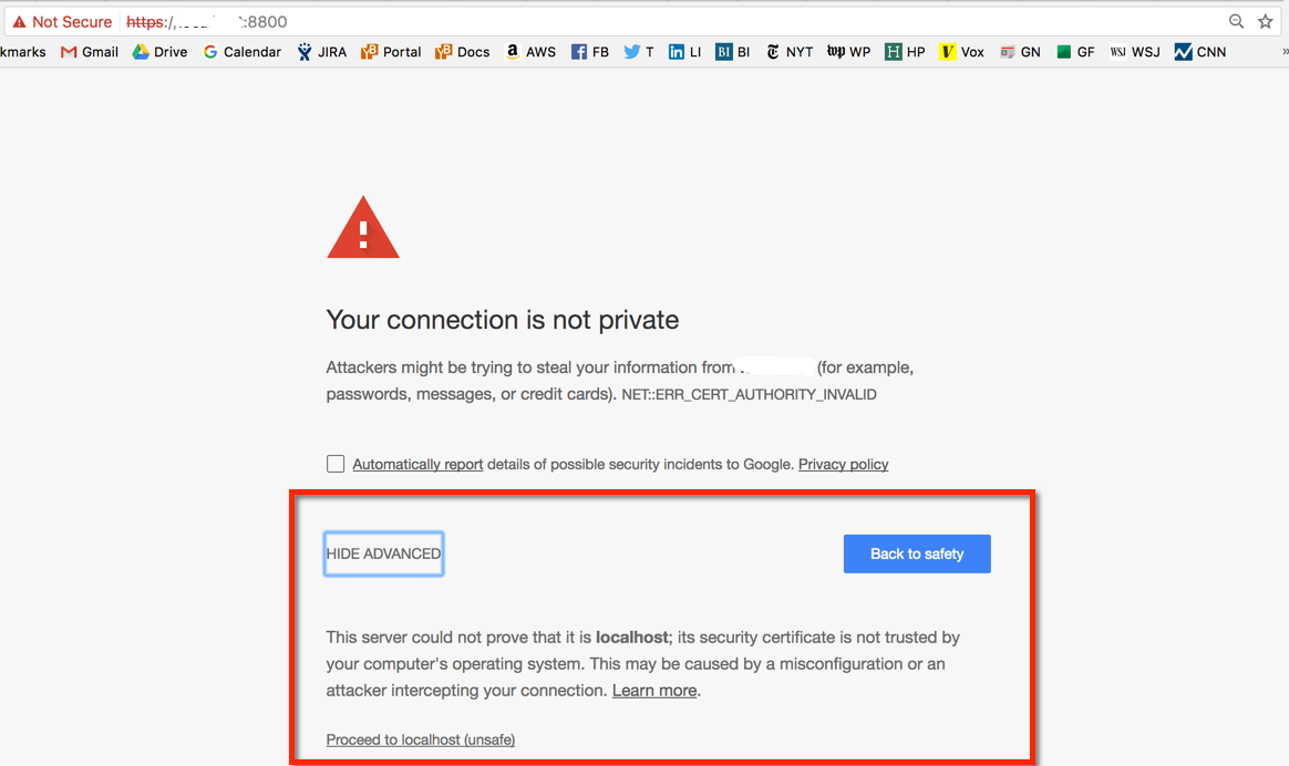Replicated SSL warning